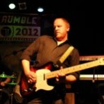 Guitarist Pete Zeigler tweaks the sound for The Rationales