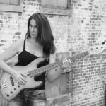 Bass player Alison Keslow loves her Sadowsky bass and EBS octave pedal