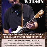 Junior Watson touring north east; local musicians to back him