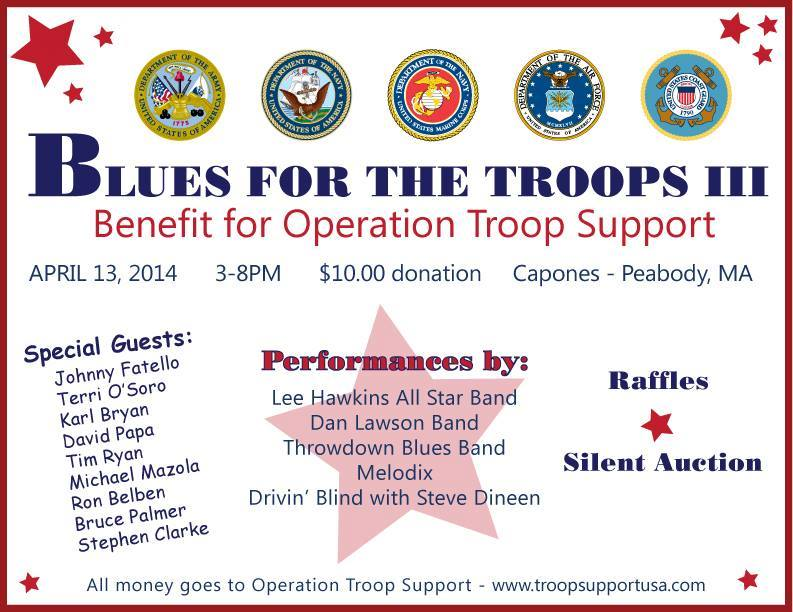 Blues For The Troops Iii Takes Place This Sunday April 13