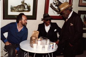 Steve Morgan, in St. Louis with Hubert Sumlin, Henry Townsend